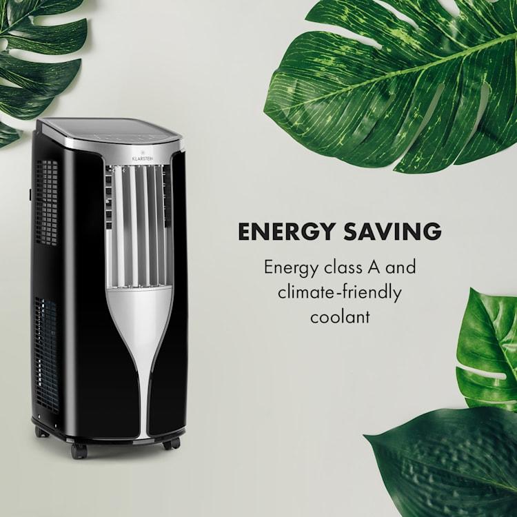 Klarstein New Breeze 7, černá, klimatizace, 2,6 kW, třída energetické účinnosti A, dálkový ovladač Černá