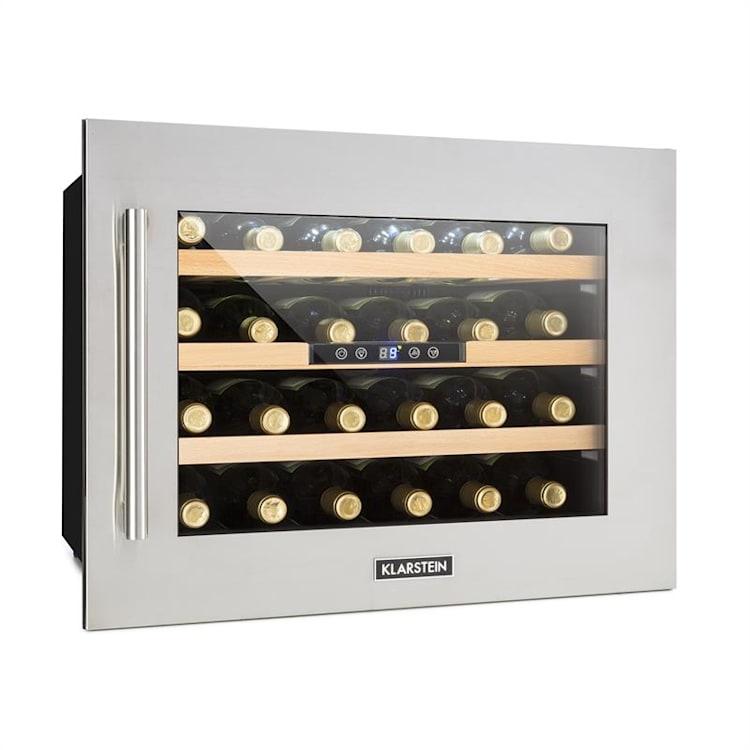 Vinsider 24 Réfrigérateur à vin encastrable Uno 24 Bouteilles 57 Litres Argent