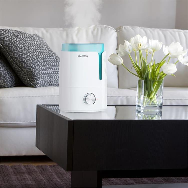 Stavanger Luftbefeuchter Aromafunktion Ultraschall 3,5l weiß/türkis Weiß