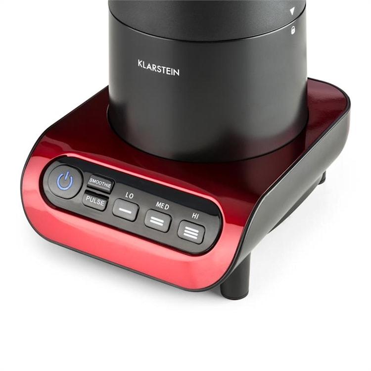 Lambada Mixeur sur pied 650 W 1,5 l Carafe en verre  - noir Rouge