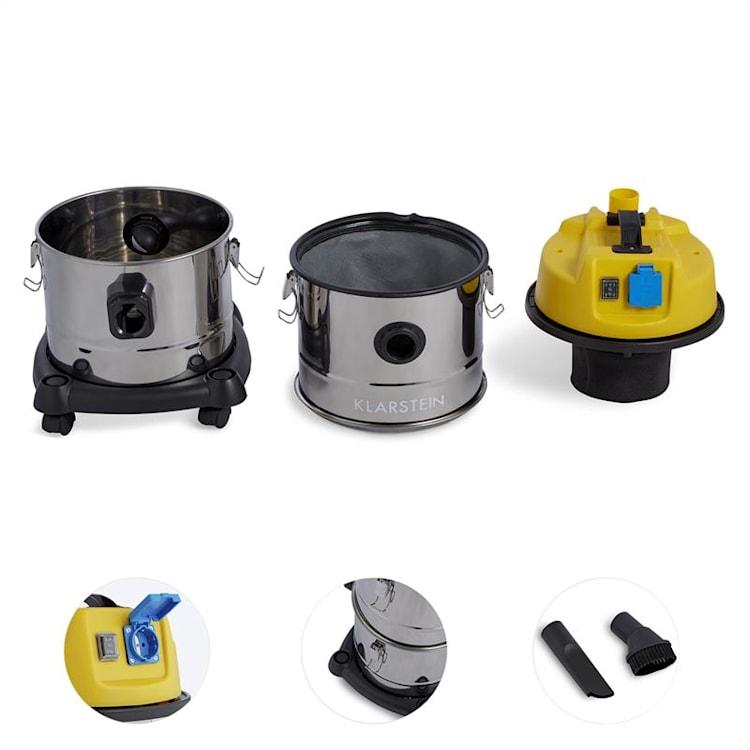 Klarstein Reinraum 3 az 1-ben ipari porszívó, száraz és nedves használatra, hamu porszívó, 1800 W, 30 l, rozsdamentes acél