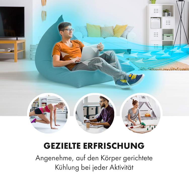 Airflex 360°-Standventilator | 56 W | 360° Oszillation | Körpererkennung | 245 m³/h | Timer | 4 Betriebsmodi | LED-Display | Timer | Fernbedienung