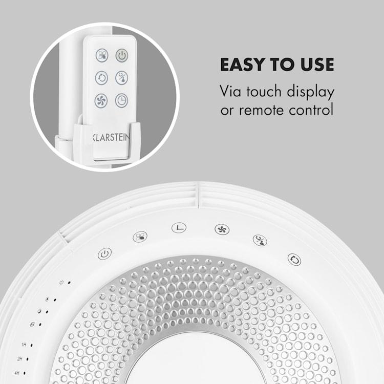 Airflex 360 ° Floor Fan Body Sensor 56 W Remote Control White