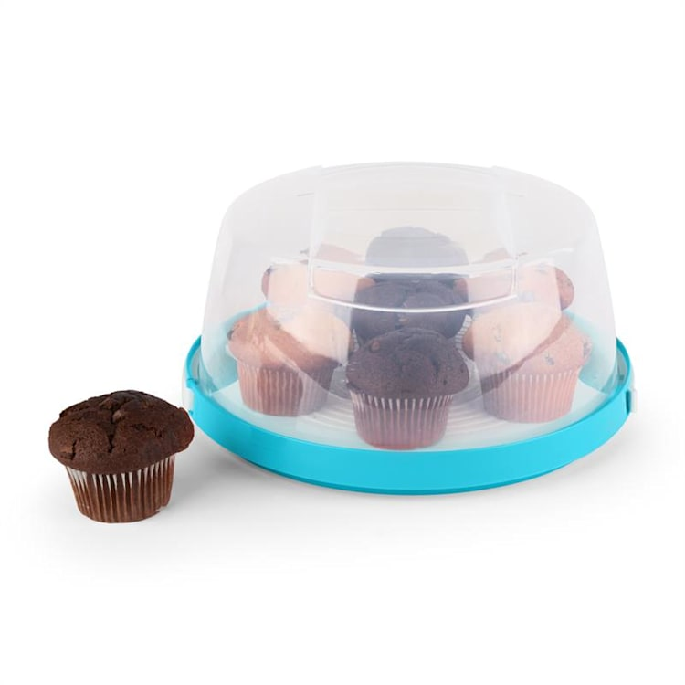 KLARSTEIN BLAUKÄPPCHEN, albastru, capac de tort, cutie pentru tort, Ø26 cm