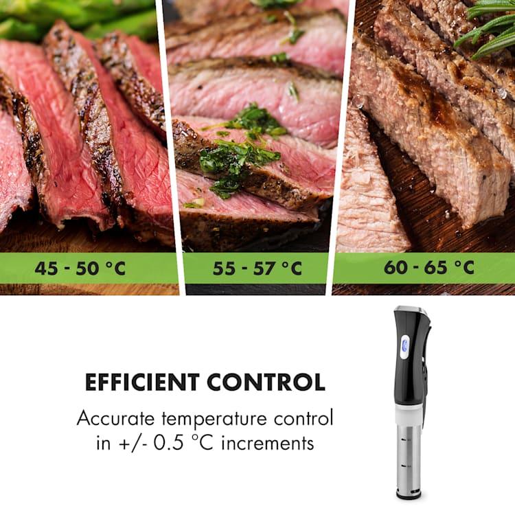 Quickstick, vařič sous vide, termostat, cirkulační čerpadlo, 20 l, ušlechtilá ocel Černá