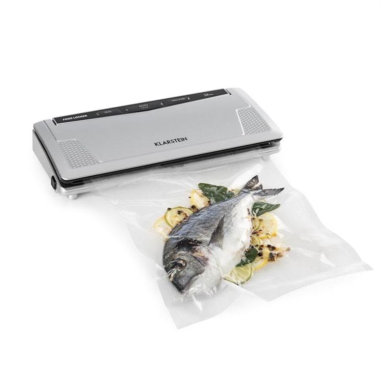 FoodLocker Slim vacuümapparaat 130 W 30 cm dubbele sealnaad 10 vacuümzakken Slim: -0,75 bar 8 ltr/min