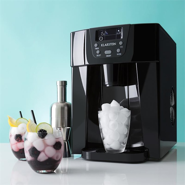 Ice Volcano 2G Eismaschine LED 12kg je 24h 2l 6-12min schwarz Schwarz
