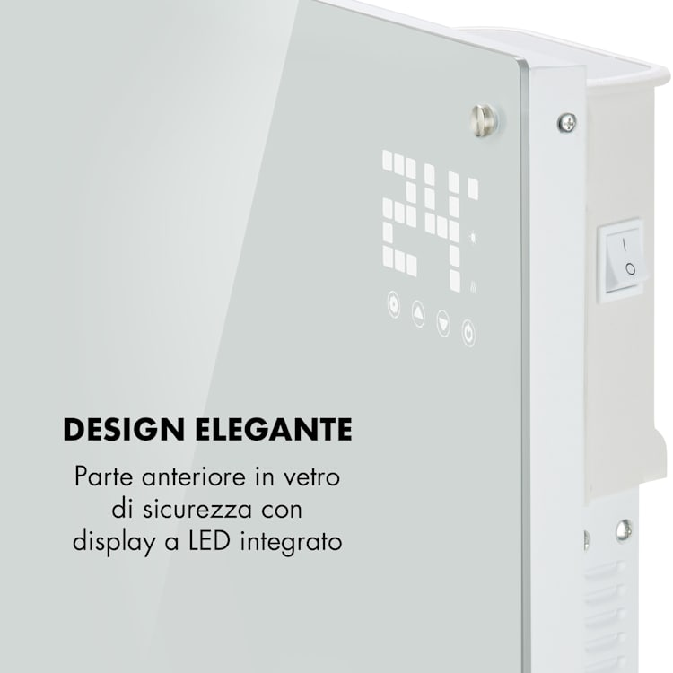 Bornholm Radiatore Convettivo Display LED 2 Livelli Riscaldamento Bianco Bianco