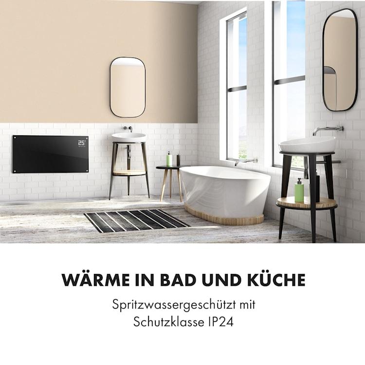 Bornholm Konvektions-Heizgerät | 2 Heizstufen: 1000 / 2000 W | LED-Display | Timer | bis 40 m² | Standgerät / Wandgerät Schwarz