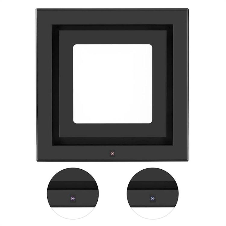 Hotte aspirante îlot suspension plafond LED Verre réfléchissant - noir Noir