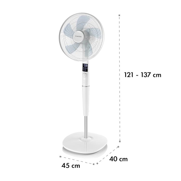 """Silent Storm, fehér, 35 W, álló ventilátor, 16""""(41 cm) 5-lapos propeller, 80m³ Fehér"""