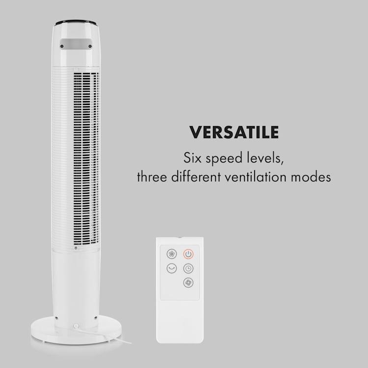 Empire State, ventilator pedestal oscilație 45 °, alb