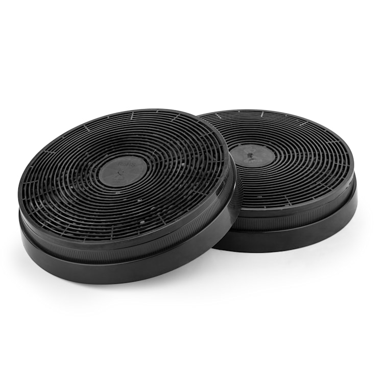 Filtro de carvão ativado para exaustores de cozinha Peça de substituição 2 filtros Ø17,5 cm
