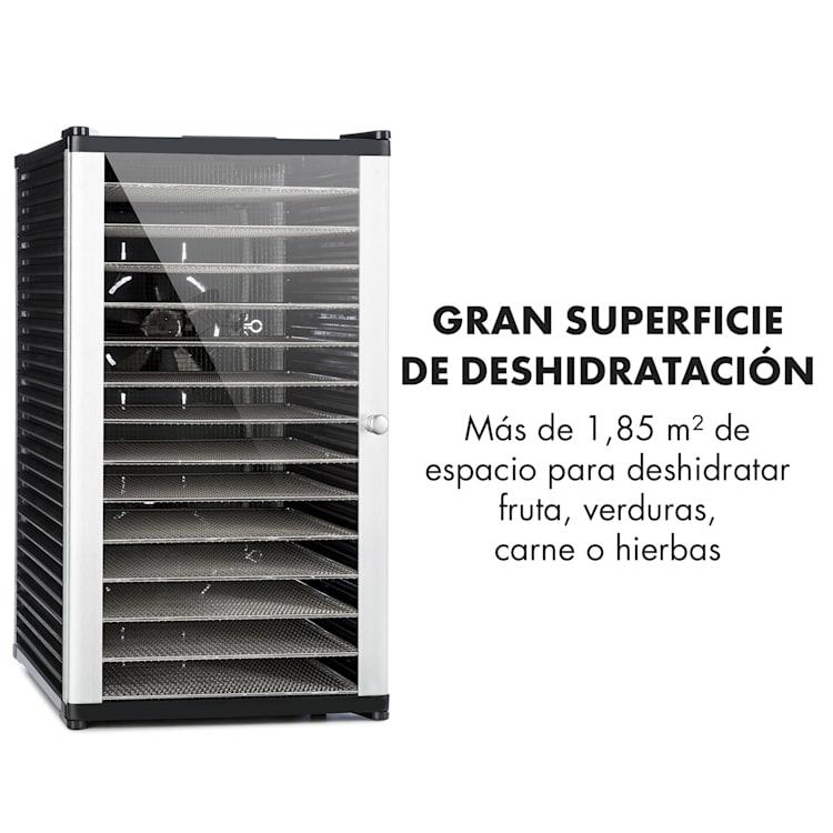 Fruit Jerky 14 deshidratador 1000W 14 pisos de acero inoxidable negro 14 bandejas