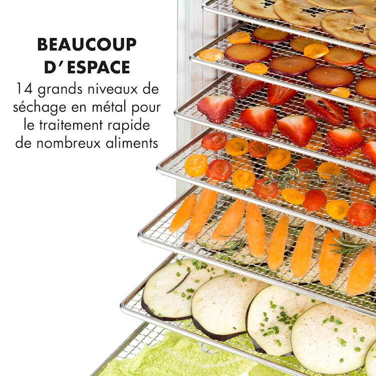 Fruit Jerky 14 voedseldroger 1000W 14 rvs etages zwart 14 stages