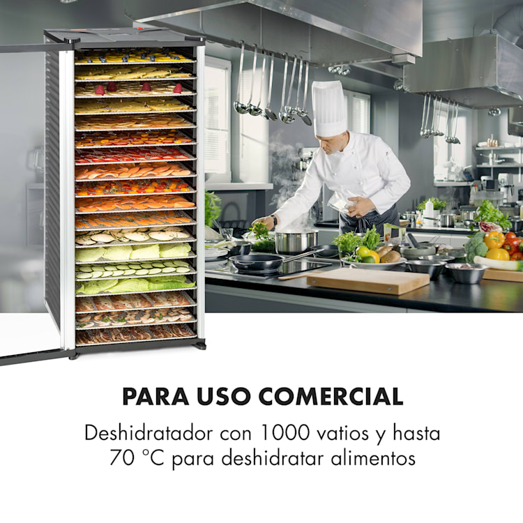 Fruit Jerky 18 deshidratador 1000W 18 pisos de acero inoxidable negro 18 bandejas