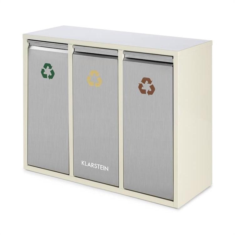 Ordnungshüter 3 Mülleimer Mülltrenner 45L (3 x 15 L) cremebeige 45 Ltr