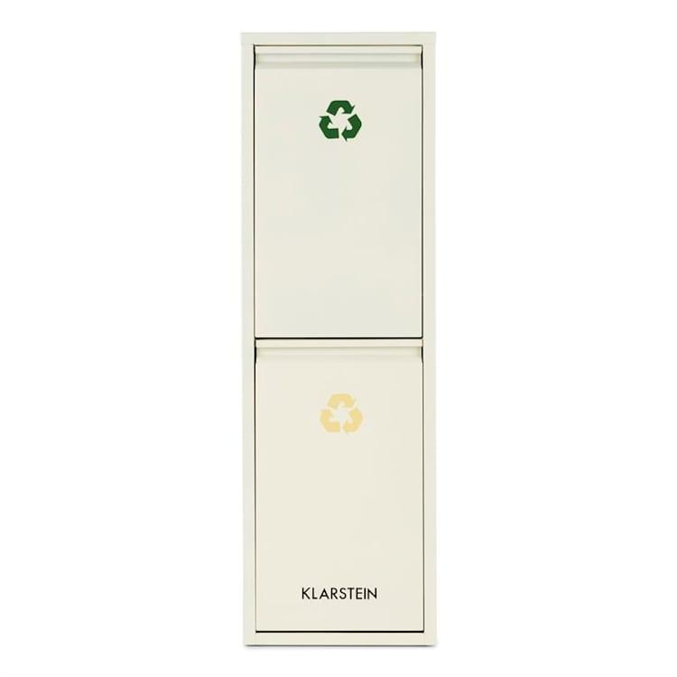 Ordnungshüter 2 Mülleimer Mülltrenner 30L (2 x 15 L) cremebeige 30 Ltr