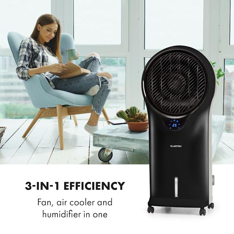 Whirlwind 3-in-1 Fan Air Cooler Humidifier 5.5L 90W Black Black