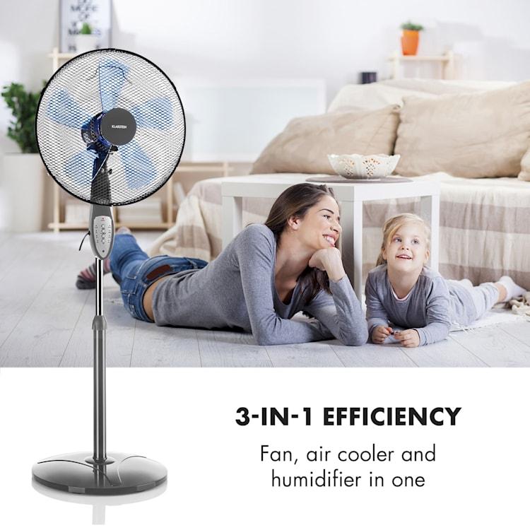 Summerjam, ventilator cu suport, gri, 41 cm, 50 W, 3 nivele de viteză, debitul de aer 69.18 m³ / min., inclusiv telecomandă Gri