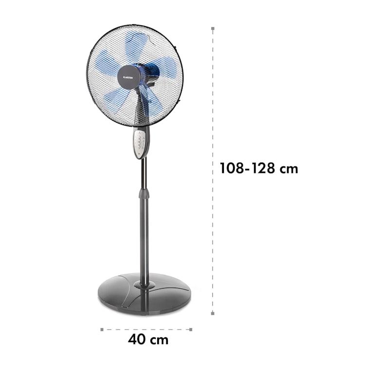 Summerjam ventilateur sur pied 41 cm 50 W 3 vitesses - gris Gris