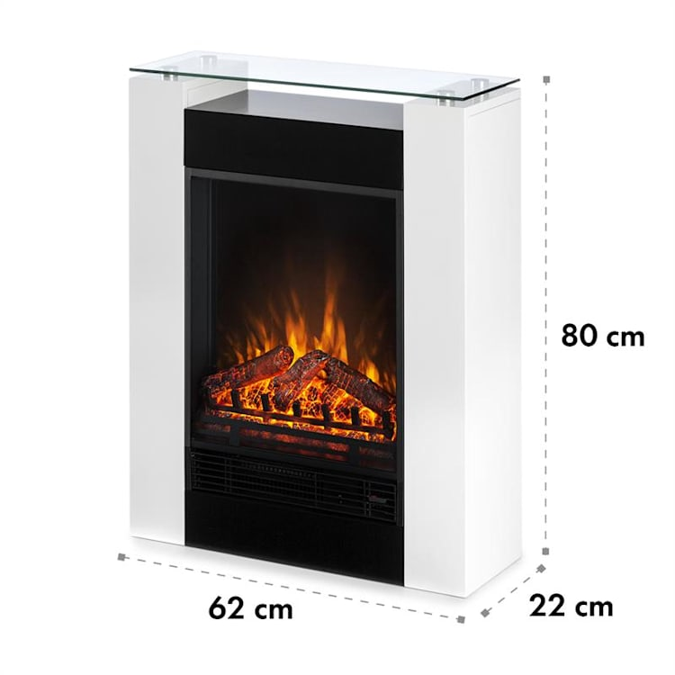 Studio 5 Electric Fireplace Fan Heater 900/1800 W Remote Control White White