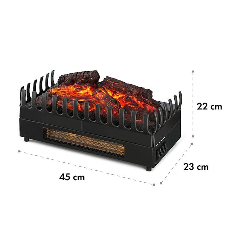 Kamini FX Elektrischer Kamin Kamineinsatz 1000/2000W 2W LED schwarz 45 cm