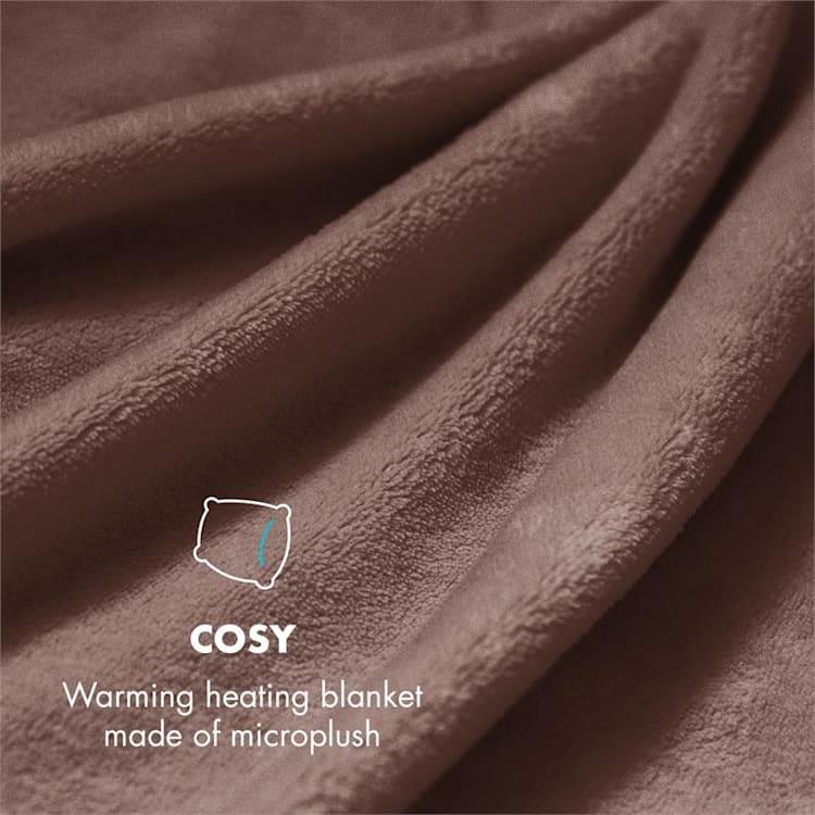 Dr. Watson XXL електрическо одеяло 120W, приятна, 200x180cm, плюш, кафяв цвят Кафяв   XXL