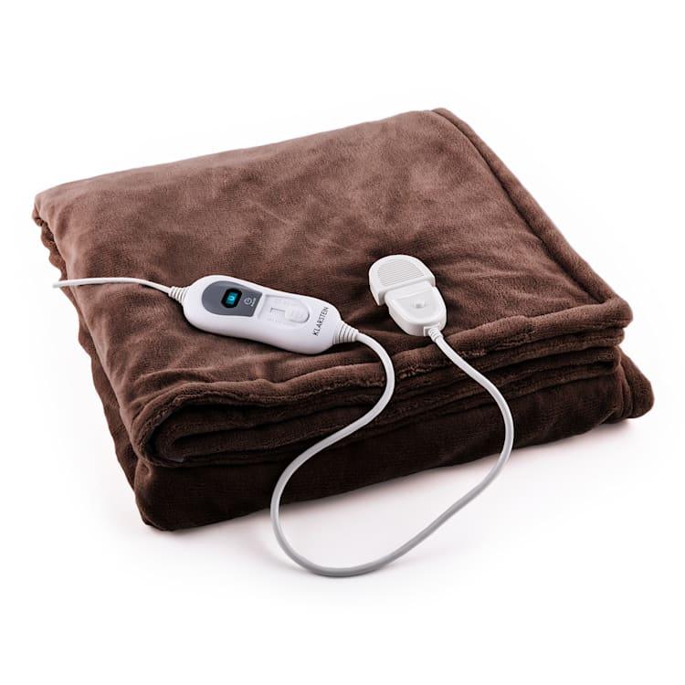 Dr. Watson XXL Manta eléctrica 120W lavable 200x180cm Microfibra marrón Marrón | XXL