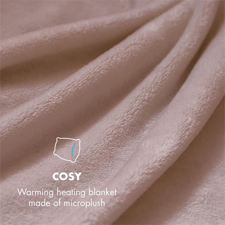 Dr. Watson XXL електрическо одеяло120W, 200x180cm, плюш, бежов цвят Бежов   XXL