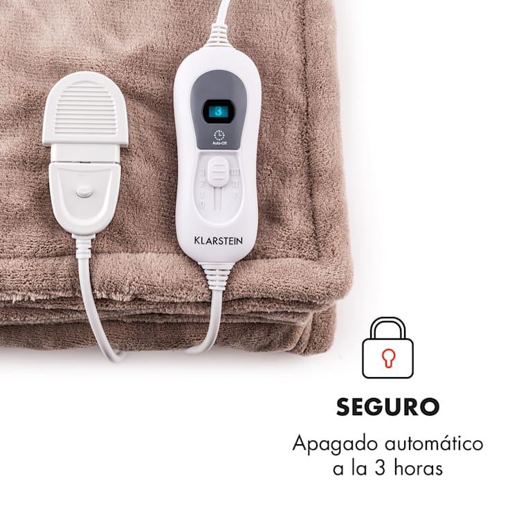 Dr. Watson XXL Manta eléctrica 120W lavable 200x180cm Microfibra beige Beige | XXL