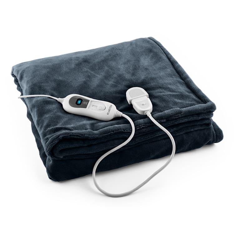 Dr. Watson XL Manta eléctrica 120 W lavable 180x130cm micro fibra gris Gris   XL