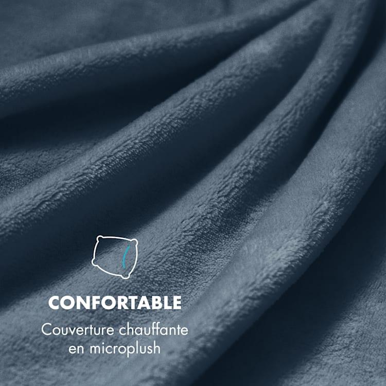 Dr. Watson XXL Couverture chauffante 120W 180 x130 cm microfibre - gris Gris   XL