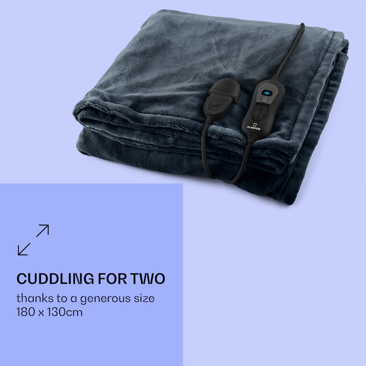 Dr. Watson XL, vyhrievacia deka, 120 W, 180 x 130 cm, prateľná, mikroplyš, modrá/šedá Šedá   XL