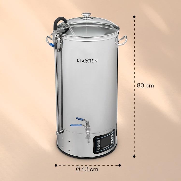 Mundschenk XXL mäskäyskattila oluenpanojärjestelmä 3000 W 50 l ruostumatonta 304-terästä