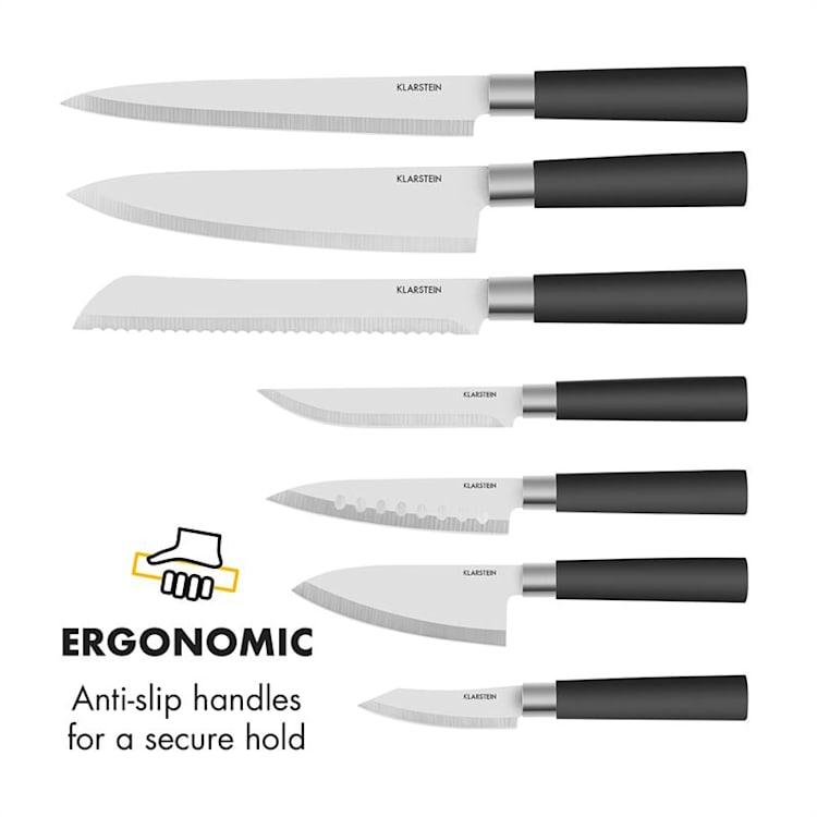 Kitano 8-piece Knife Set With Block Precision Blades Japanese Design