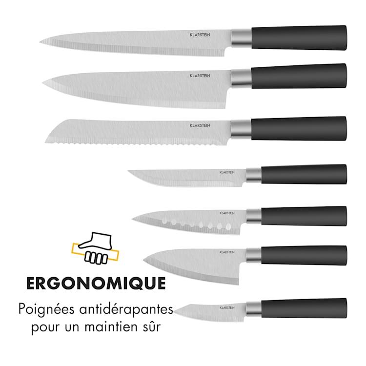 Kitano Set 8 pièces couteaux & bloc lames de précision Design japonais