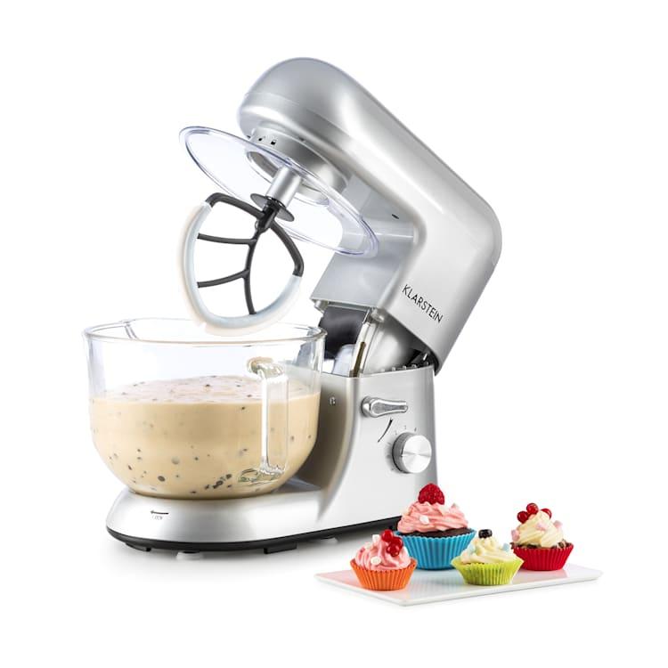 Bella Argentea 2G Robot de cuisine 1200W bol en verre 2,5/5 l - argent Argent