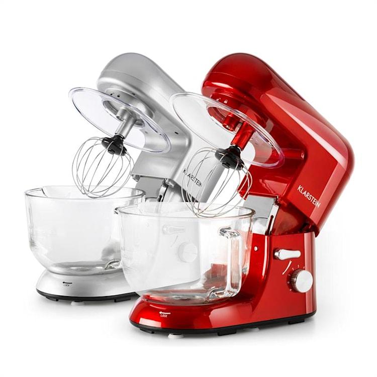 Bella Rossa 2G, kuchynský robot, 1200 W, 2,5/5,2 l, sklená misa, červená farba Červená