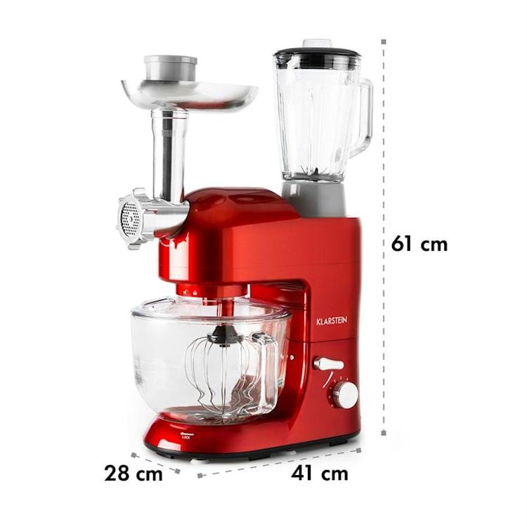 Lucia Rossa 2G kuchynský robot, mixér, mlynček na mäso, 2000W, BPA-free Červená