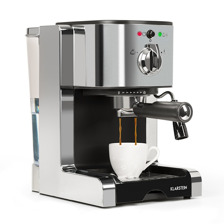 Passionata 15, espresso kavni aparat, 15 barov, Kapučino, mlečna pena, srebrne barve Srebrna