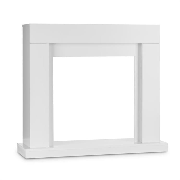Studio Frame Fireplace Mantel Modern Design White Without fireplace insert