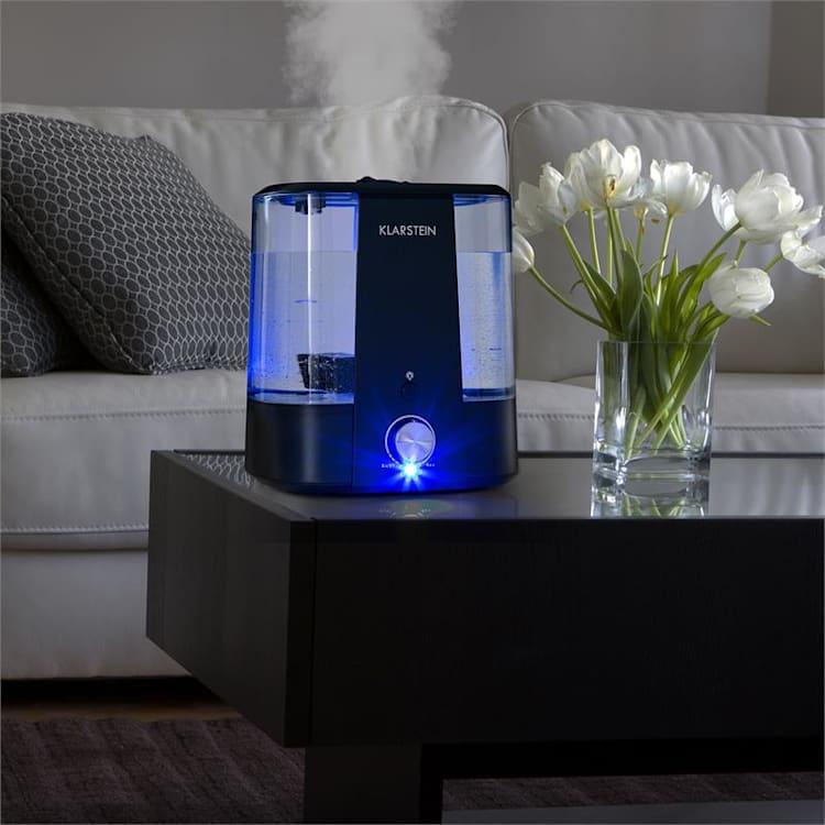 Toledo Ultraschall-Luftbefeuchter Aroma-Diffusor 6l LED-Licht schwarz Schwarz
