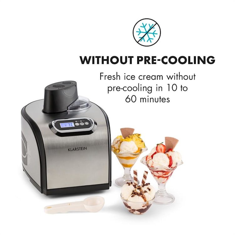 Sweet Dreams Ice Cream Maker Frozen Yoghurt Compressor 1.5l Stainless Steel