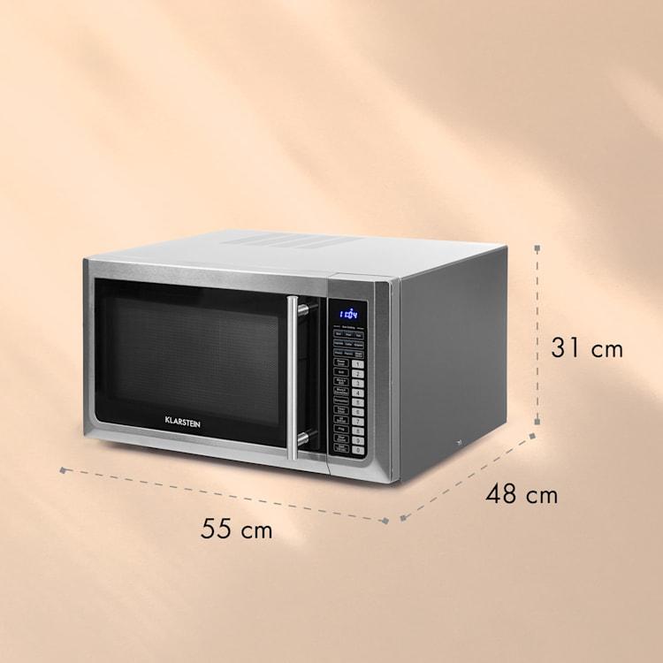 Brilliance Pro, mikrohullámú sütő, 43 liter, grillező, légkeverés, érintésvezérelt panel, nemesacél 43 Ltr