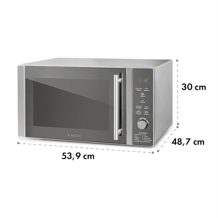 Luminance Prime, mikrohullámú sütő, 34 l, 1000 W, grill: 1300 W