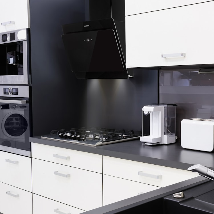 Aurica 60 Hotte aspirante 60 cm 600 m³/h LED tactile verre blanc Noir | 60 cm | Sans filtre de rechange