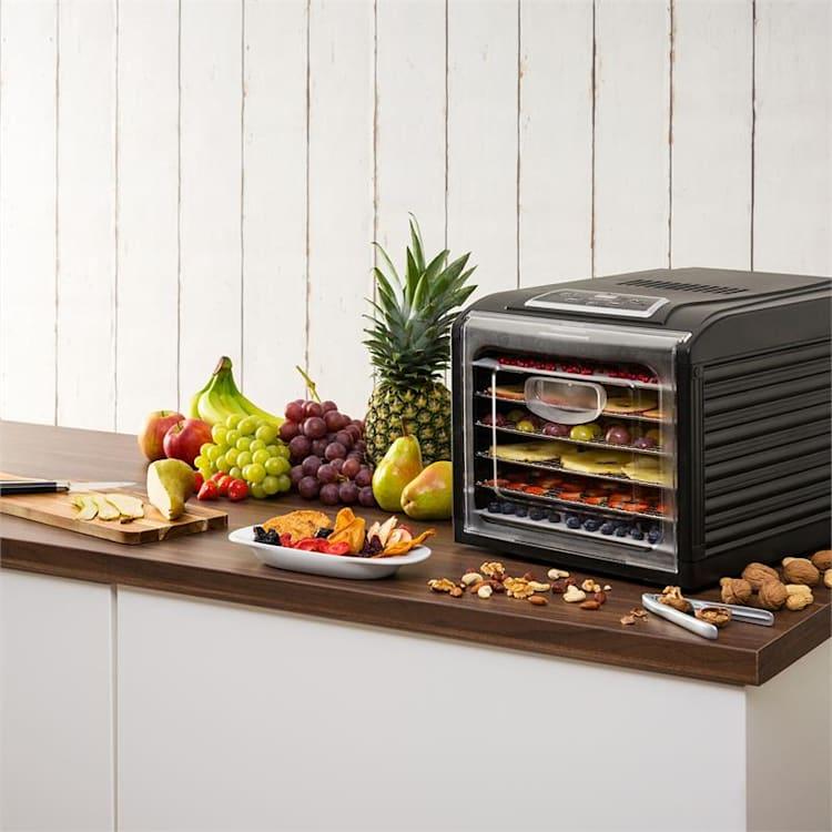Heldere Fruit Jerky Plus 6 droogautomaat 6 opslagvakken blik 420-500W zwart 6 stages