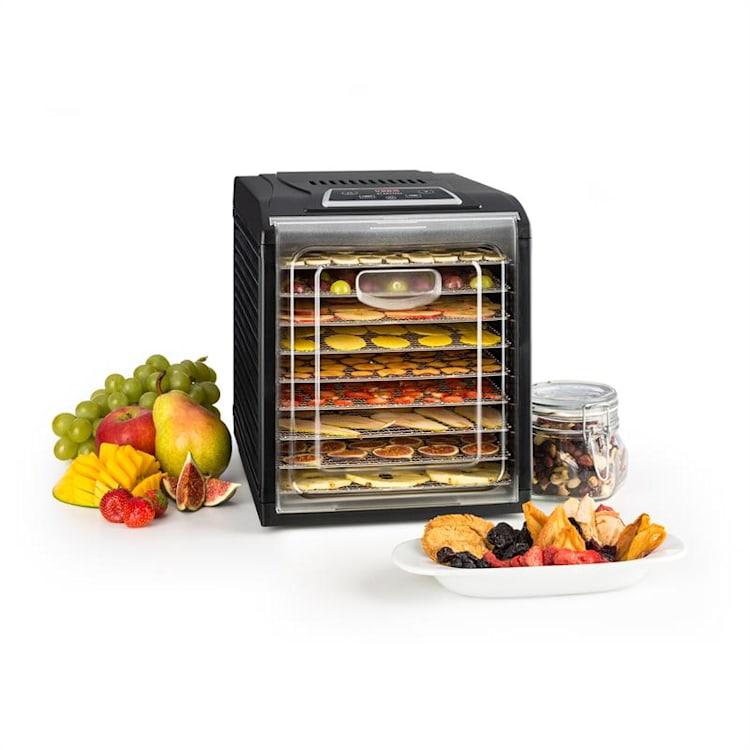 Fruit Jerky 9 gyümölcsszárító gép, időzítő, 9 polc, 600-700 W, 600-700 W, fekete 9 tálca