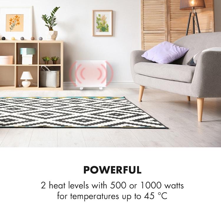 Bornholm Single, konvektor, konvekční ohřívač, termostat, časovač, 1000W, bílý Bílá